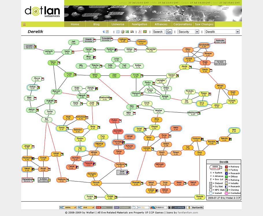 Colorized Maps - DOTLAN :: EveMaps on